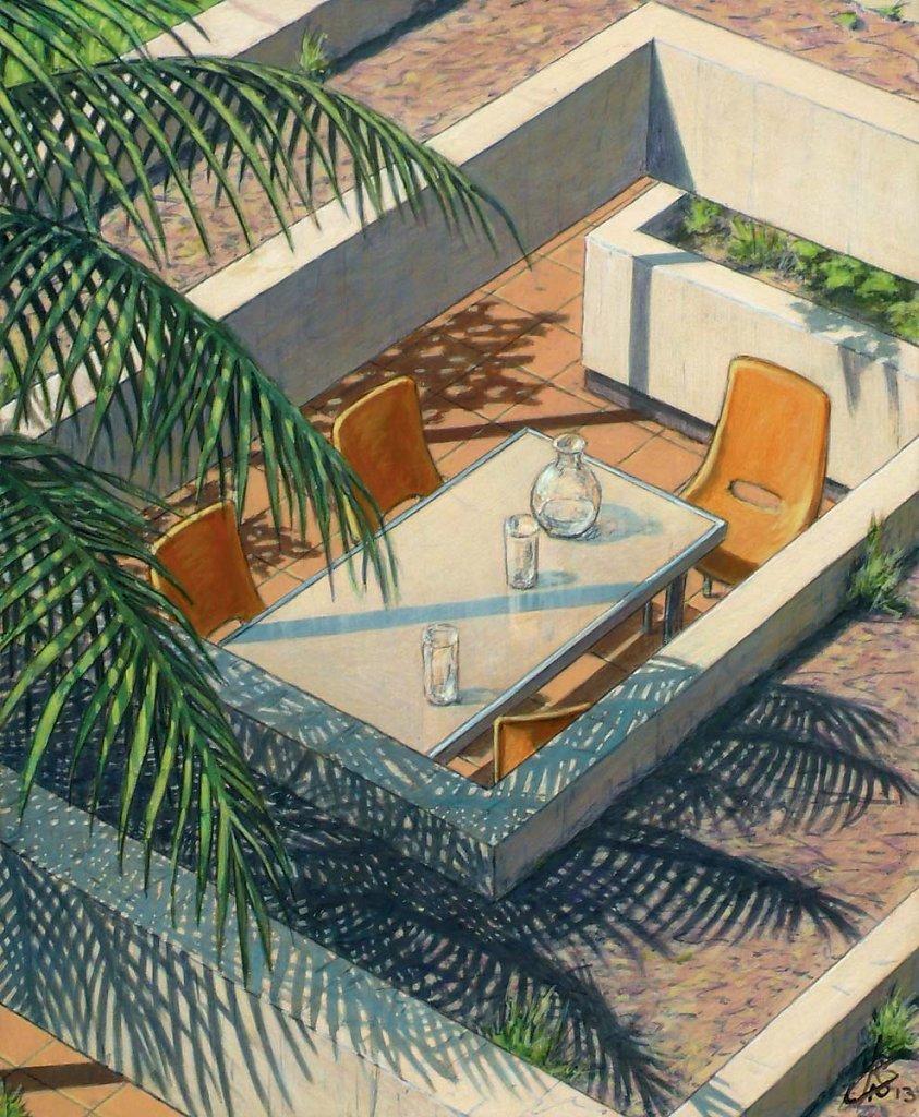 """""""Ombre palmier"""" 55X46 2013."""