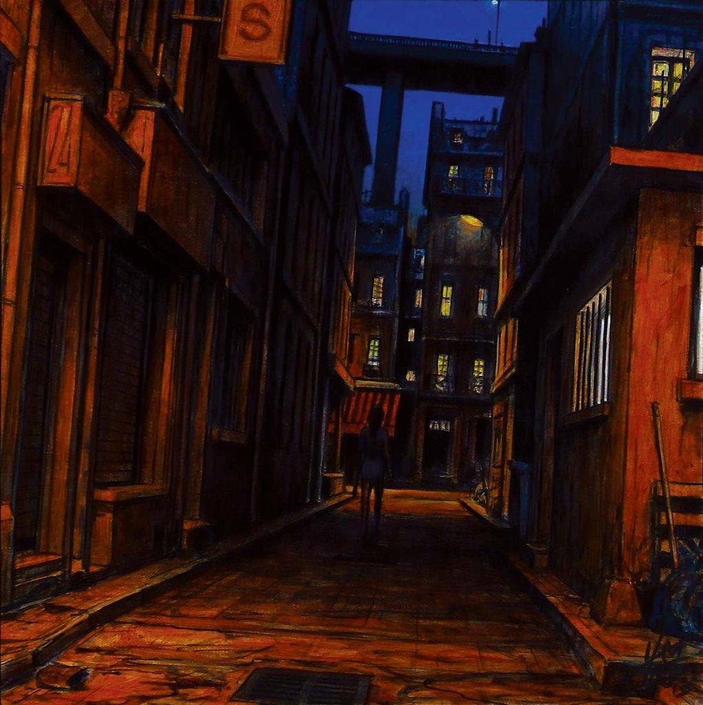 Rue de nuit 40X40 2013.