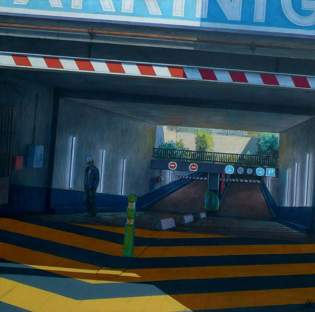 """Entree parking"" 120X120 2012."