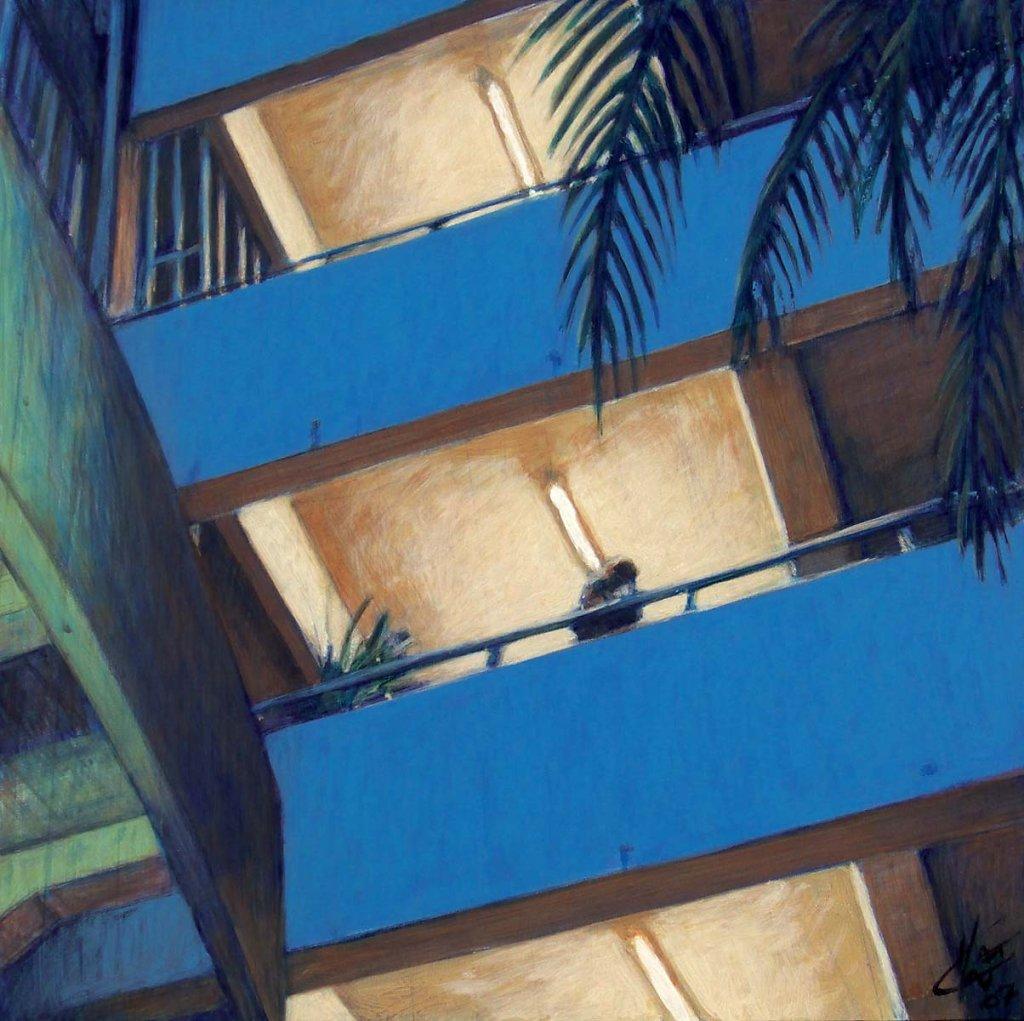 Cage escalier aux neons 40X40 2007
