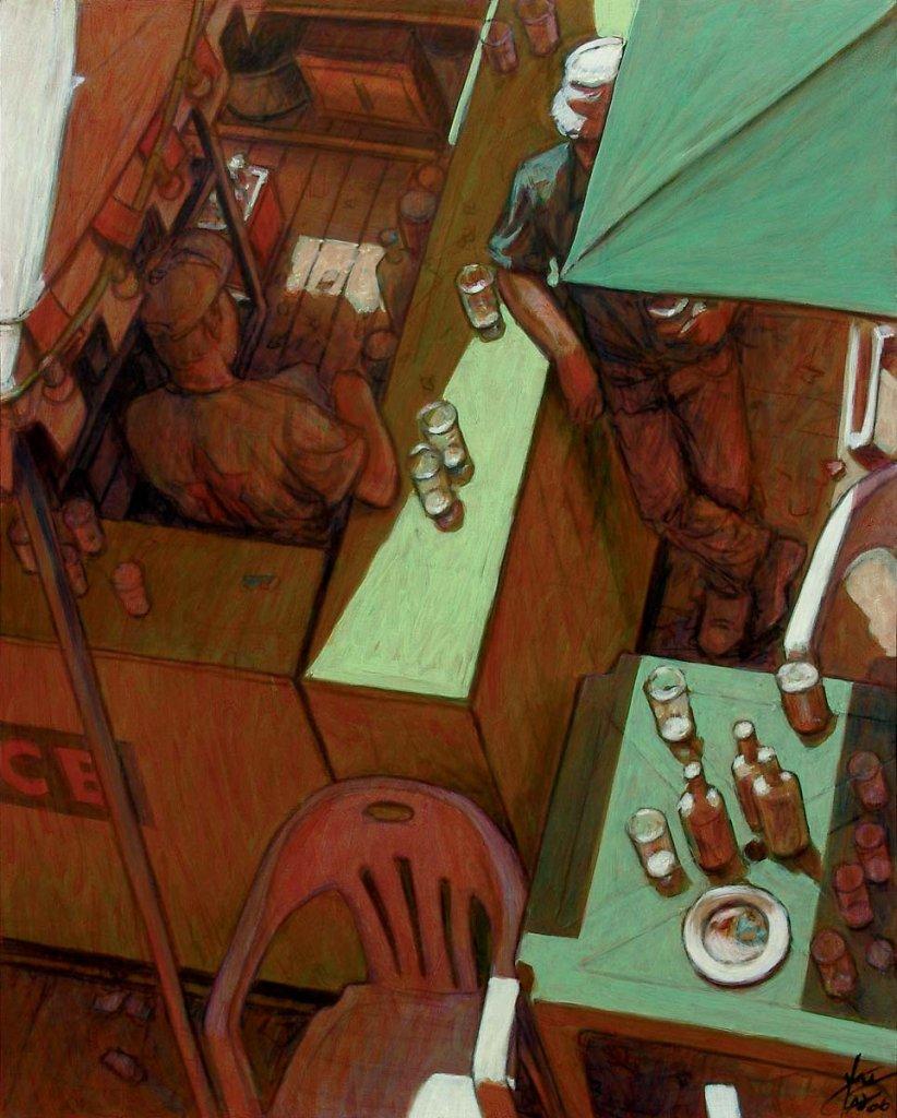 Comptoir vert 81X65 2006