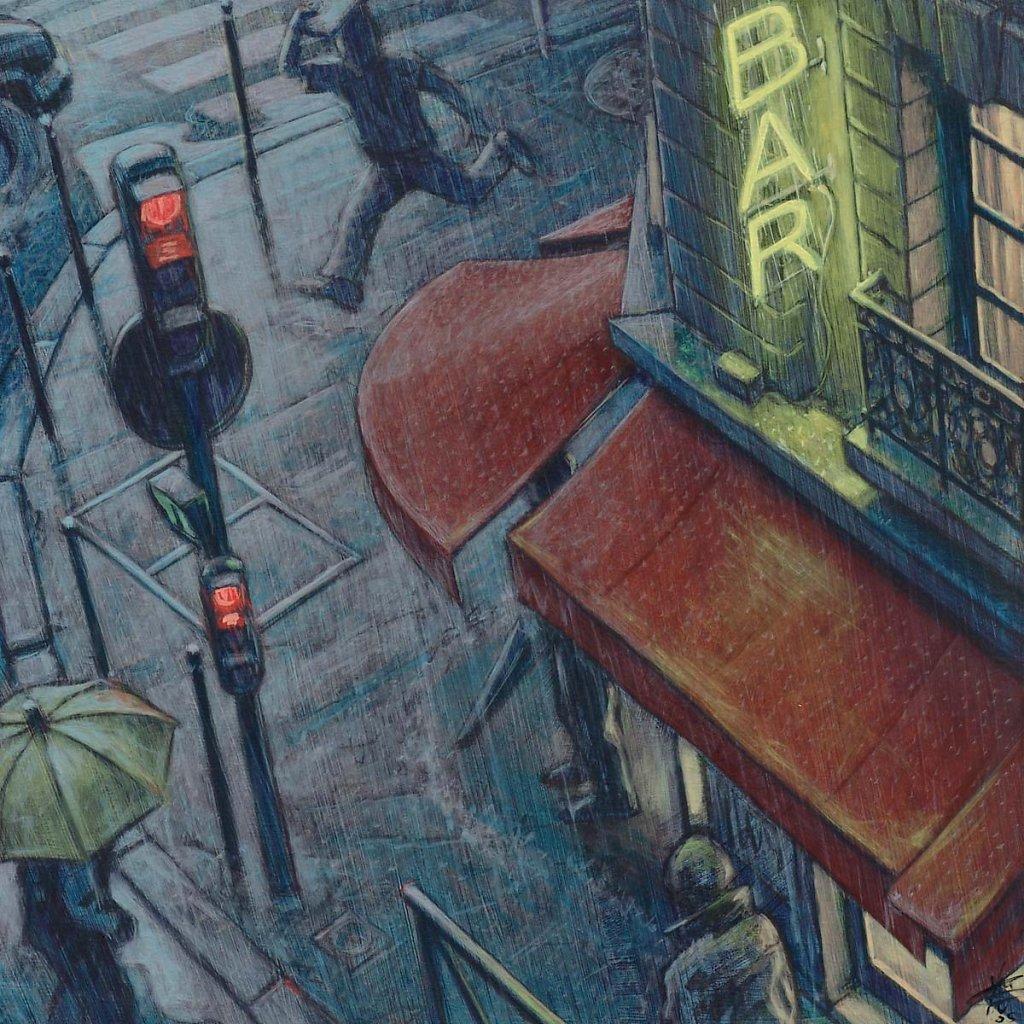 La pluie 80X80 2005