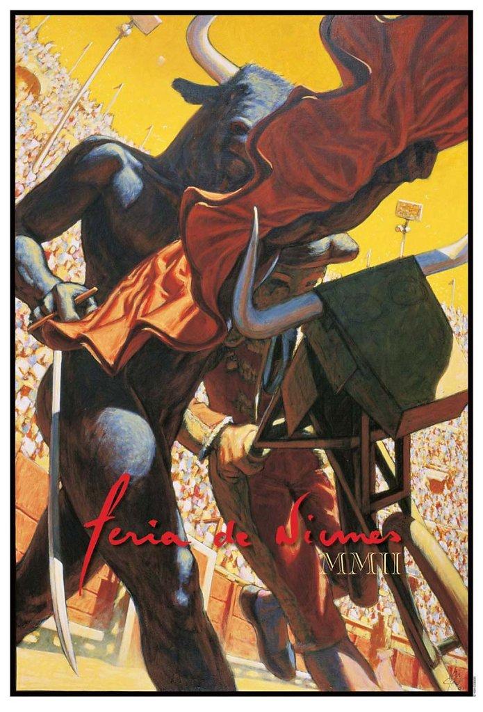 Affiche minotaure, 2002, 67X49cm, papier arche 250g