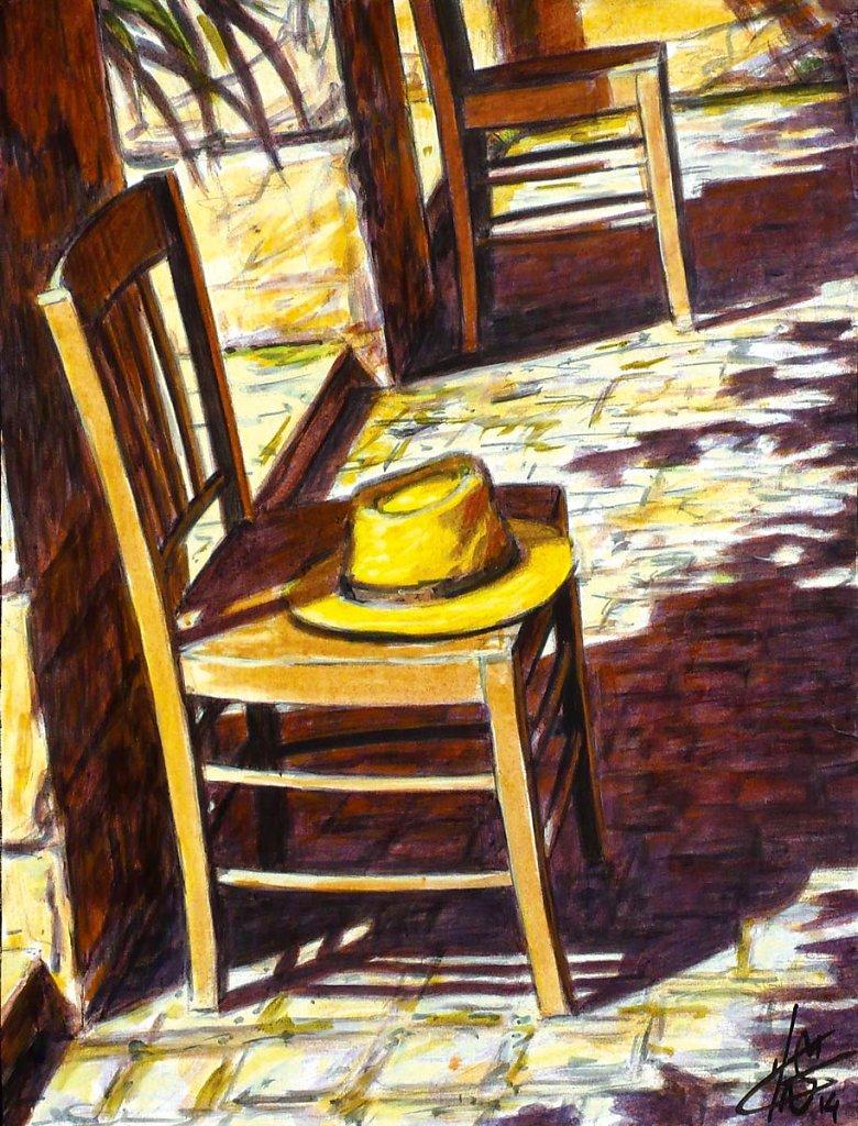 Chaise et chapeau, 35X27cm2014