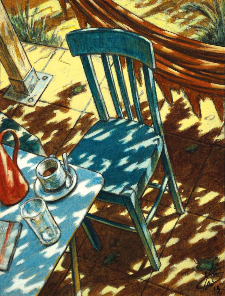 """"""" Chaise bleue """" - 35X27 - 2015"""