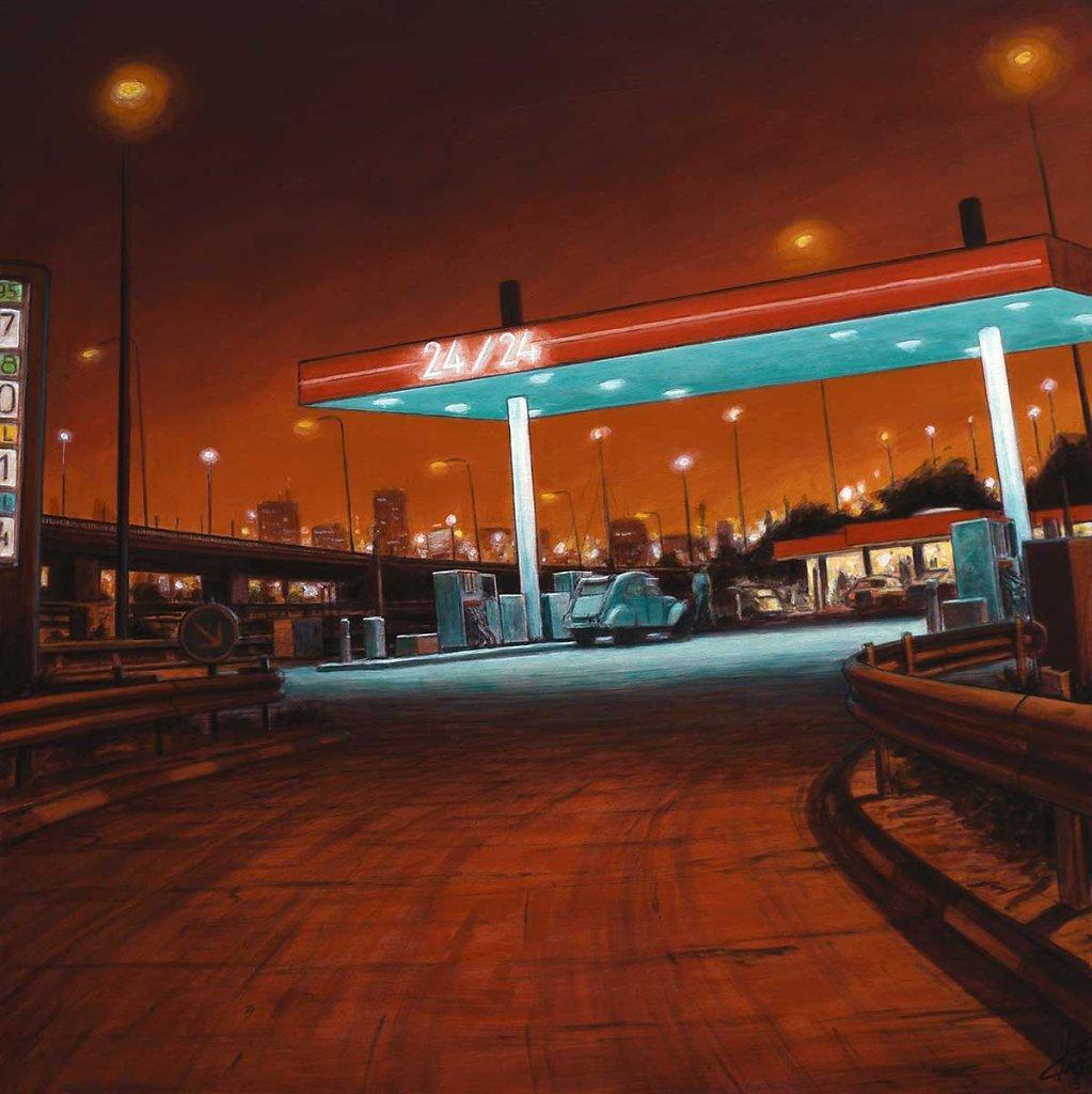 """""""Station de nuit""""80X80 - 2015"""