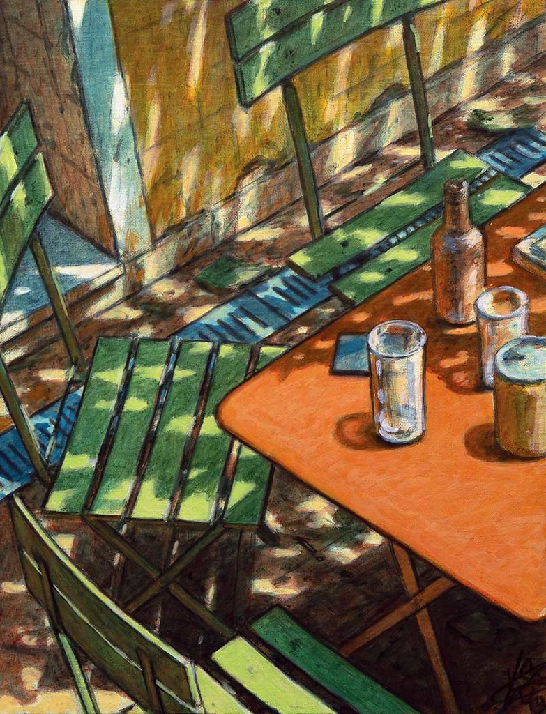"""Table orange"" 35X27 - 2019"