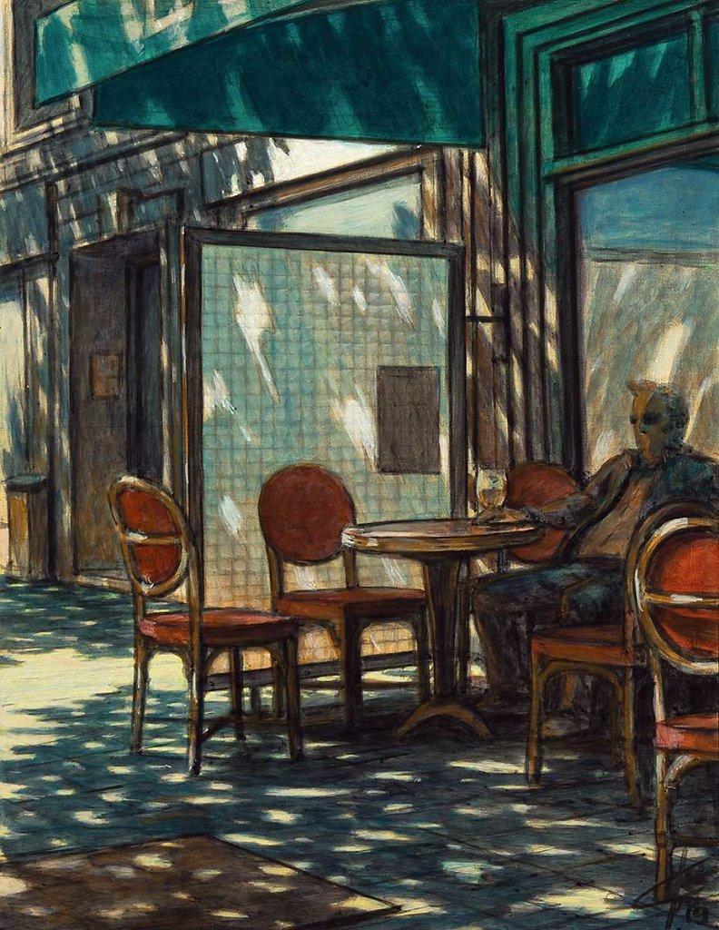 """""""Au café"""" 35X27 - 2019"""